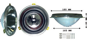 IPF 940 H3 FOG LAMP ø180 mm. Including Mounting Ring